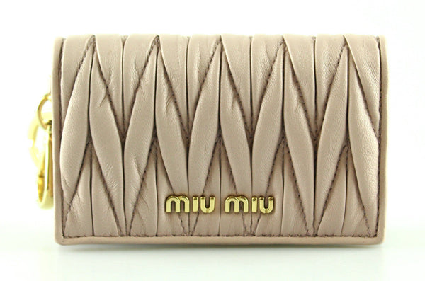 Miu Miu Mughetto Matelasse Leather Wallet