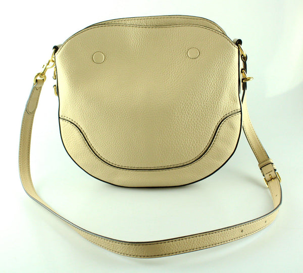 Marc Jacobs Small Drifter Leather Hobo Beige