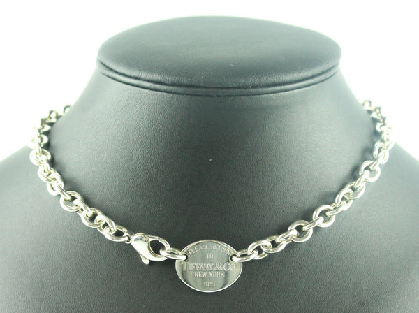Tiffany & Co. RTT Oval Pendant 925 Choker RRP €630