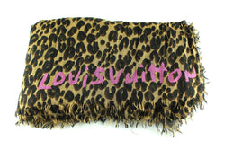 Louis Vuitton Rare Stephen Sprouse Leopard Silk Stole