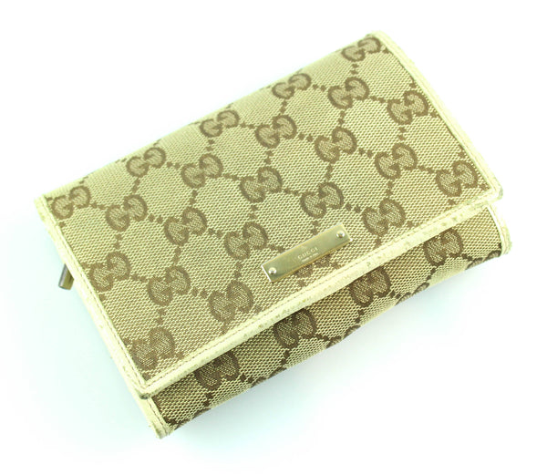 Gucci Medium Compact GG Wallet Ivory