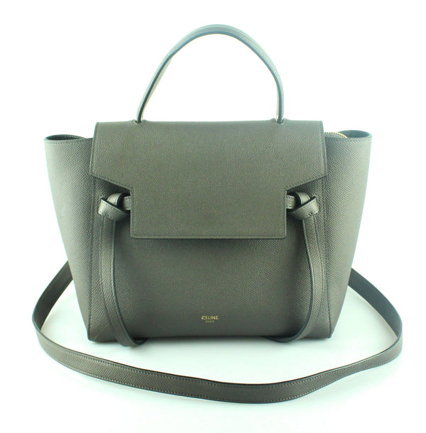 Celine Micro Belt Bag In Grey Grained Calfskin GH RRP €1700