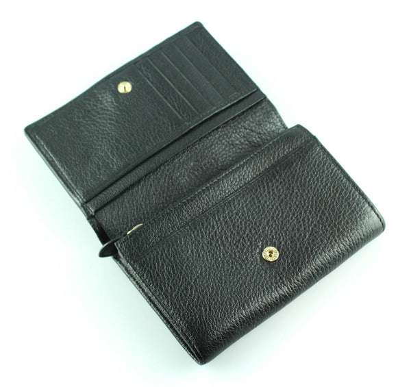 Mulberry Black Tree Wallet With Zip Coin Pouch