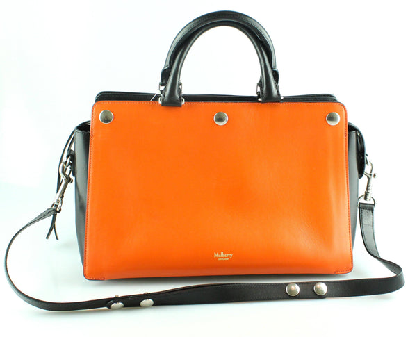 Mulberry Chester Smooth Calf Bright Orange/Black