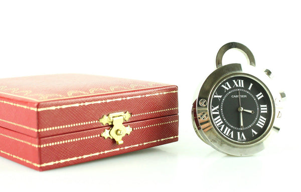 Cartier Minature Travel Alarm Clock Quartz