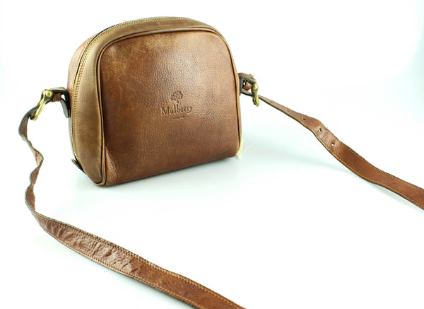 Mulberry Vintage Oak Zip Around Embossed Logo Crossbody