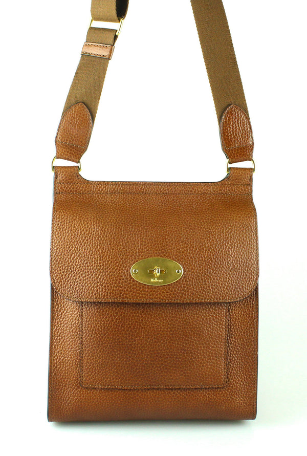 Mulberry New Anthony Messenger Satchel Oak GH