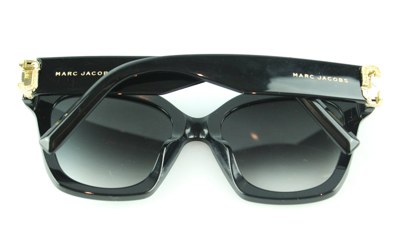 Marc Jacobs Black With Gold And Diamante Sunglasses 182/s/str