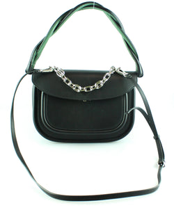 Marni Black Twist Handle Titan Crossbody