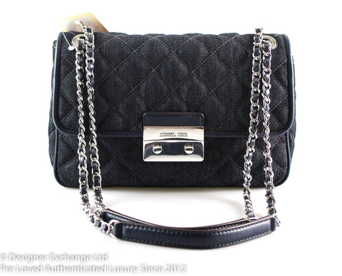 Michael Kors Denim Quilted Sloan Flap