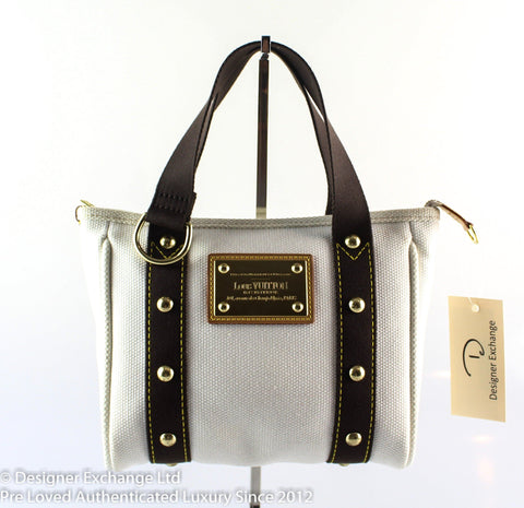 Louis Vuitton Antigua PM White Canvas FL0075