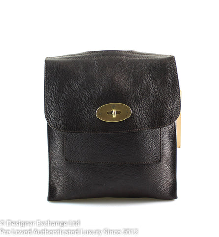 Mulberry Small Antony Messenger Choc Brown Brass