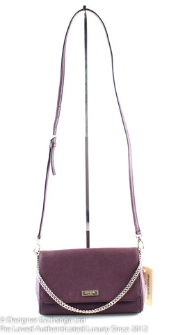 Kate Spade Purple Saffiano Chain Crossbody