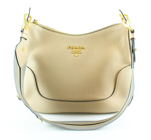 Prada Cammeo Calf Leather Zipped Hobo