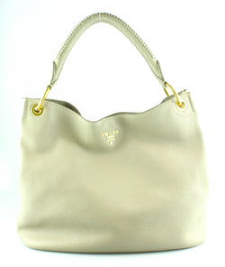 Prada Light Taupe Hobo Vitello Daino