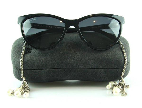 Chanel Polarised Pearl Chain Drop Sunglasses 5341-H