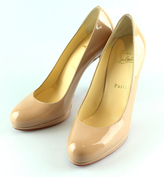 new products 4ef80 ad298 Christian Louboutin Nude Patent Simple Pump 120 37/4