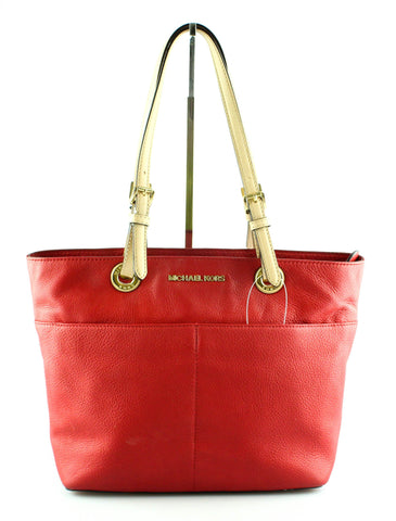 34154b17443 Michael Kors Red Bedford Twin Pocket Tote GH
