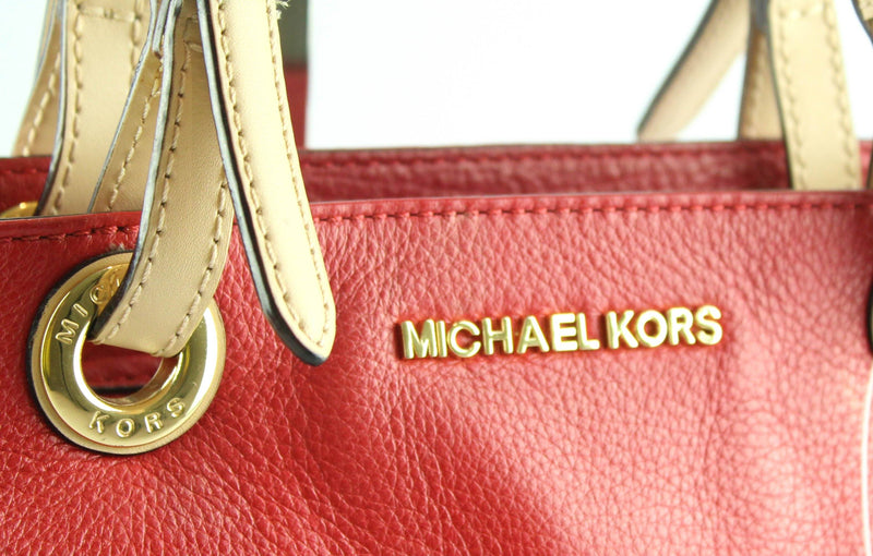 Michael Kors Red Bedford Twin Pocket Tote GH