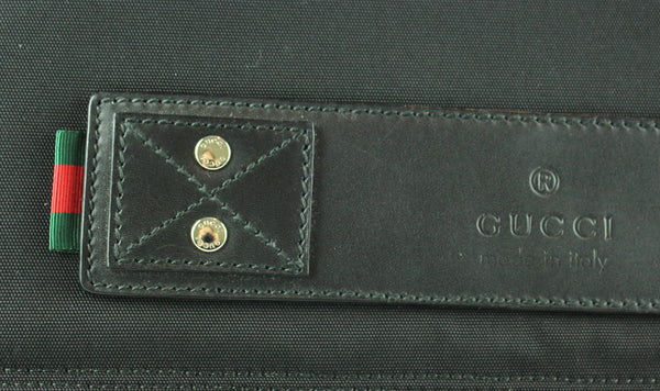Gucci Black Nylon Large Messenger