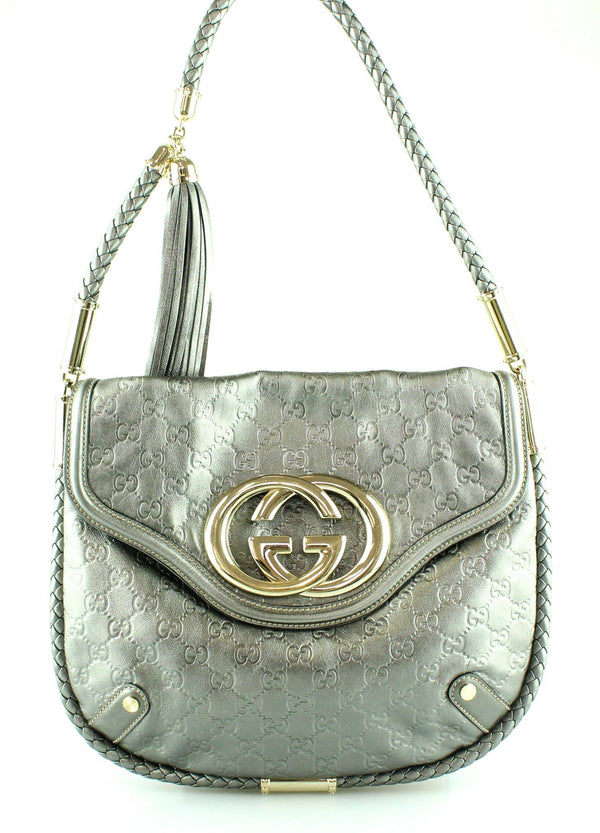 Gucci Britt Tassel Guccisima Shoulder Bag