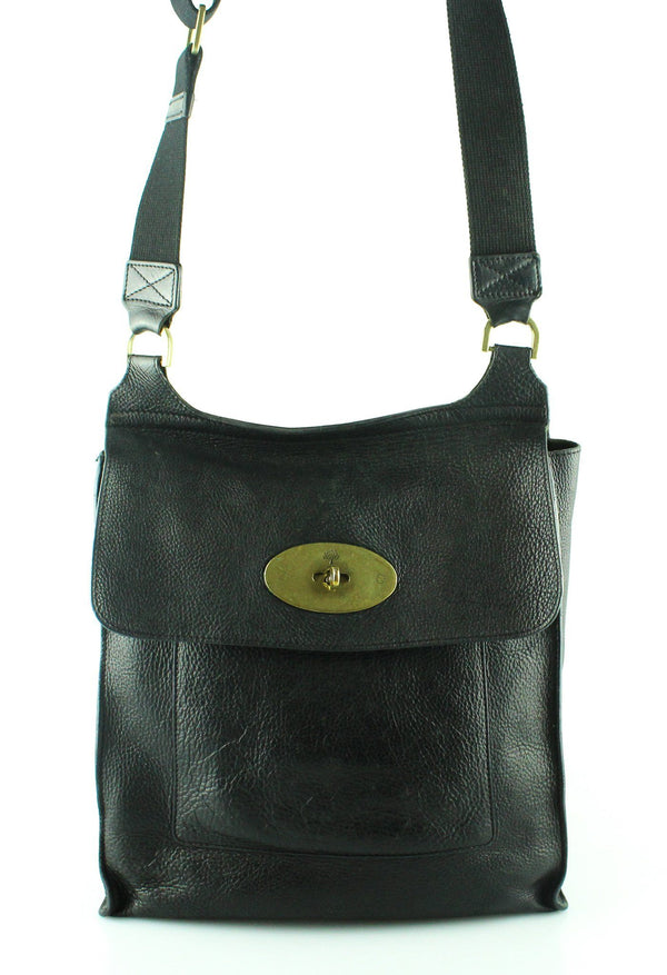 Mulberry Black Leather Large Antony GH