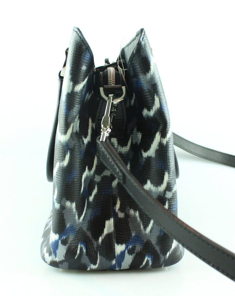 Longchamp Blue/Navy Detail Abstract Tote With Strap