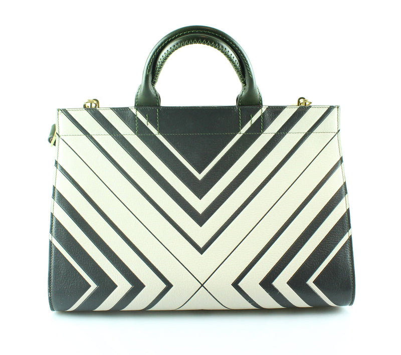 Anya Hindmarch Ephson Diamonds Tote Olive Green/Ivory