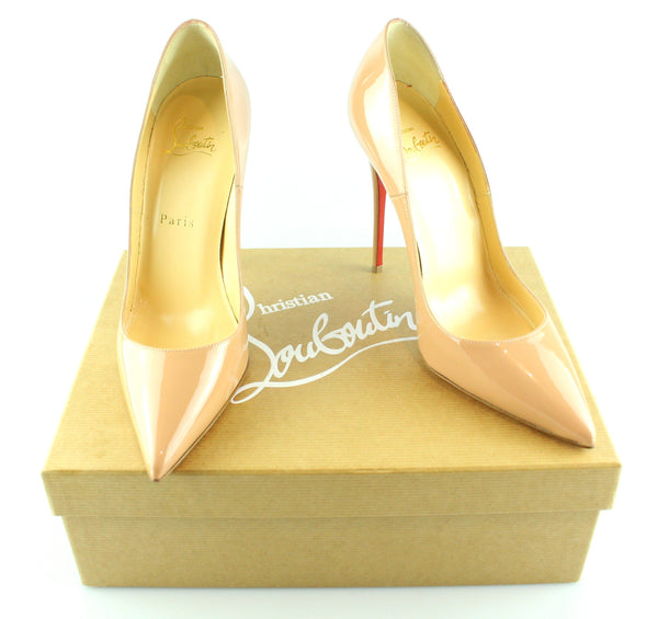 Christian Louboutin So Kate 120mm Patent Nude EUR 37 UK 4 RRP €575