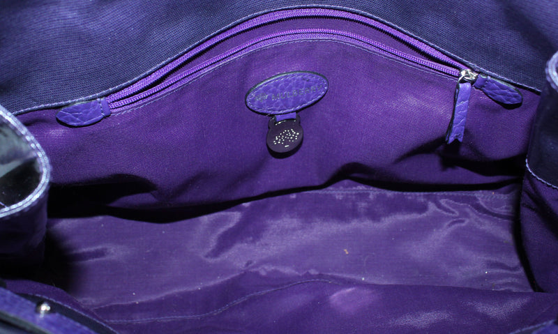 Mulberry Violet Coated Canvas Bayswater