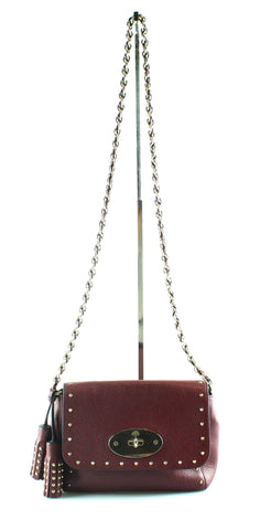 Mulberry Studded Lily Oxblood With Tassel
