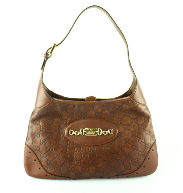 Gucci Hazel Guccissima Leather Small Plate Jackie Shoulder Bag