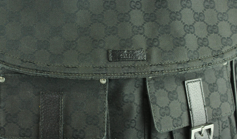 Gucci Canvas Messenger GG Black Large