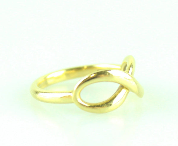 Tiffany & Co Infinity Ring Small 18k Yellow Gold