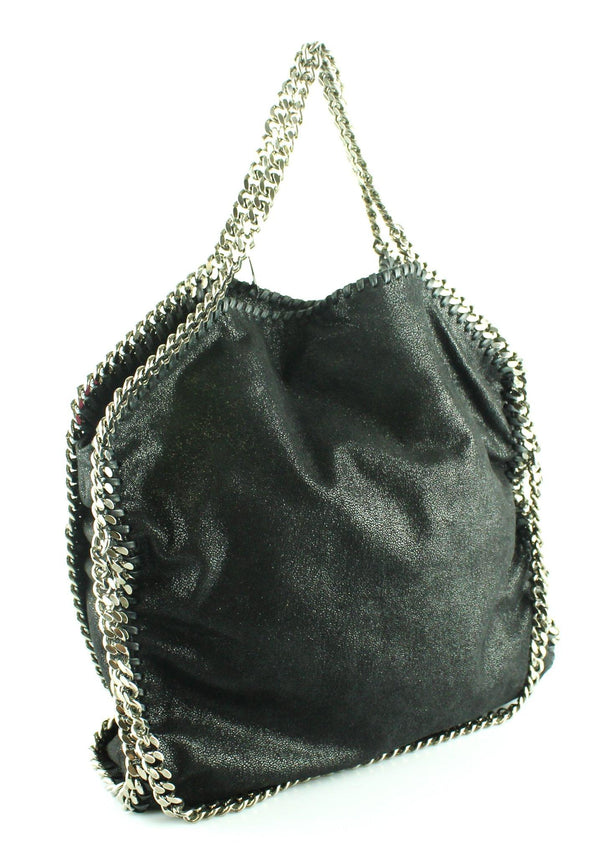 Stella McCartney Falabella Folded Tote 3 Chain Black SH