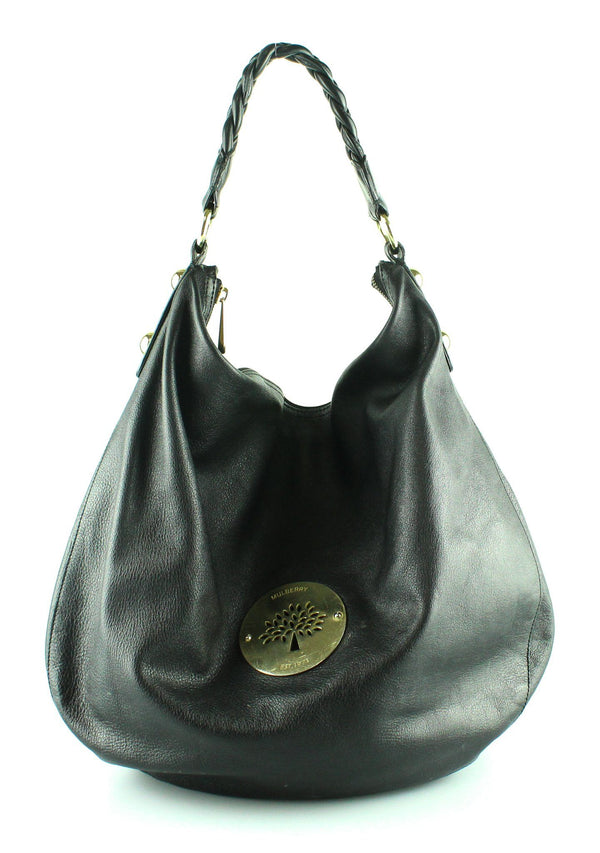 Mulberry Large Daria Hobo Black Leather GH