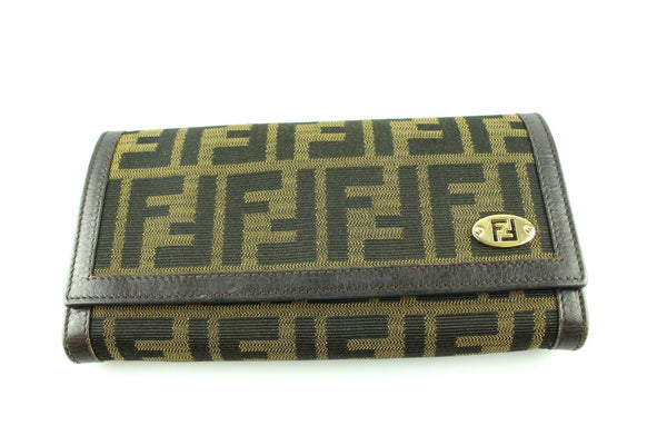 Fendi Monogram Zucca Canvas Wallet GH