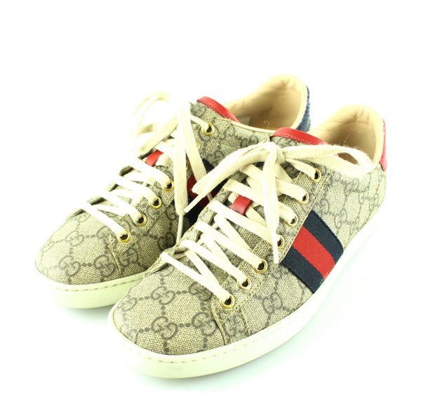 Gucci Womens Ace GG Supreme Sneakers EUR 37 UK 4