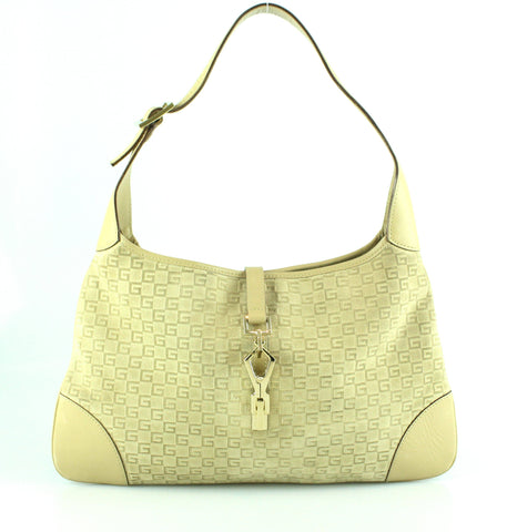 d912b3b47af Gucci Suede Beige G Line Jackie Small Hobo