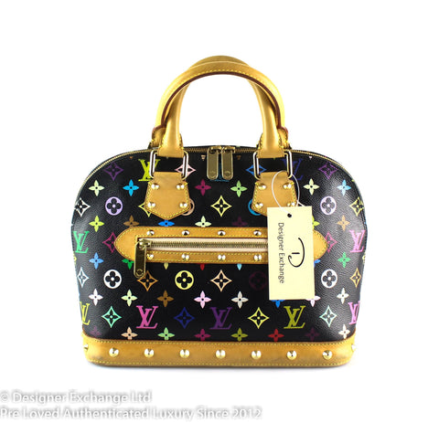 Louis Vuitton Alma Black Multicolour PM FL2007