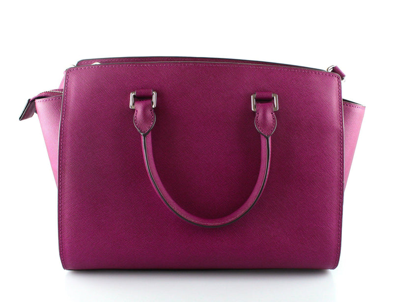 Michael Kors Purple Saffiano Medium Selma SH