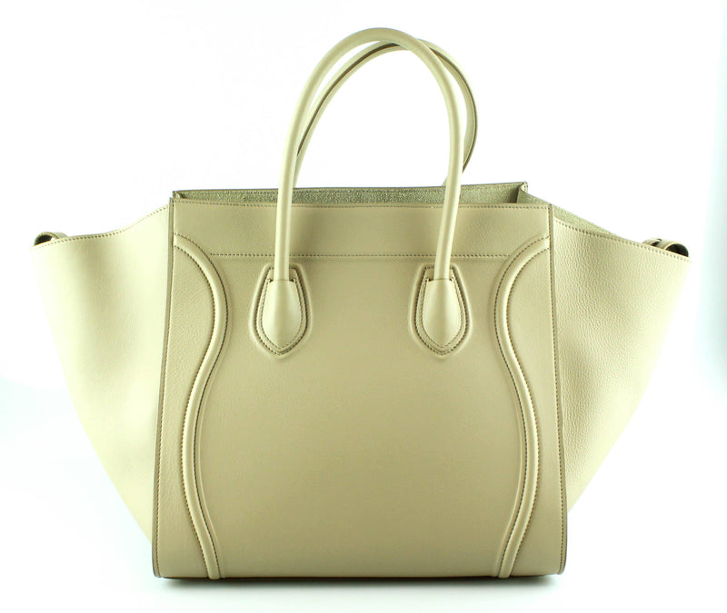 Celine Supple Calfskin Medium Phantom Luggage Tote