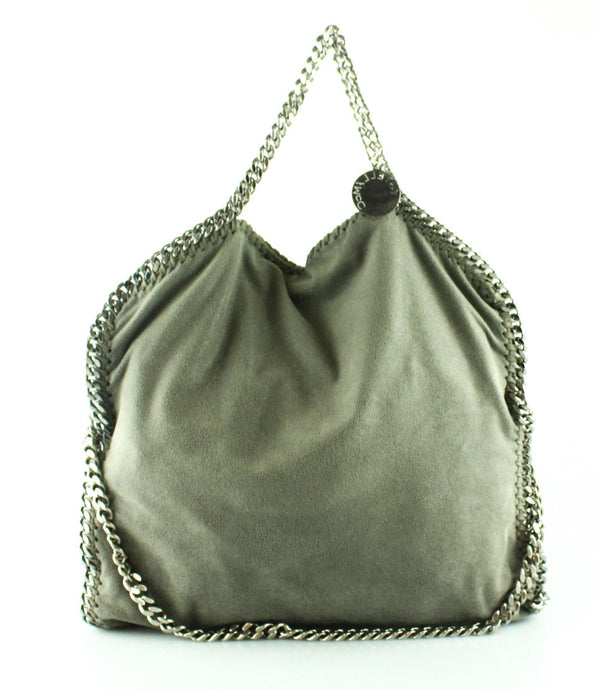 Stella McCartney Grey Shaggy Deer 3 Chain Falabella SH