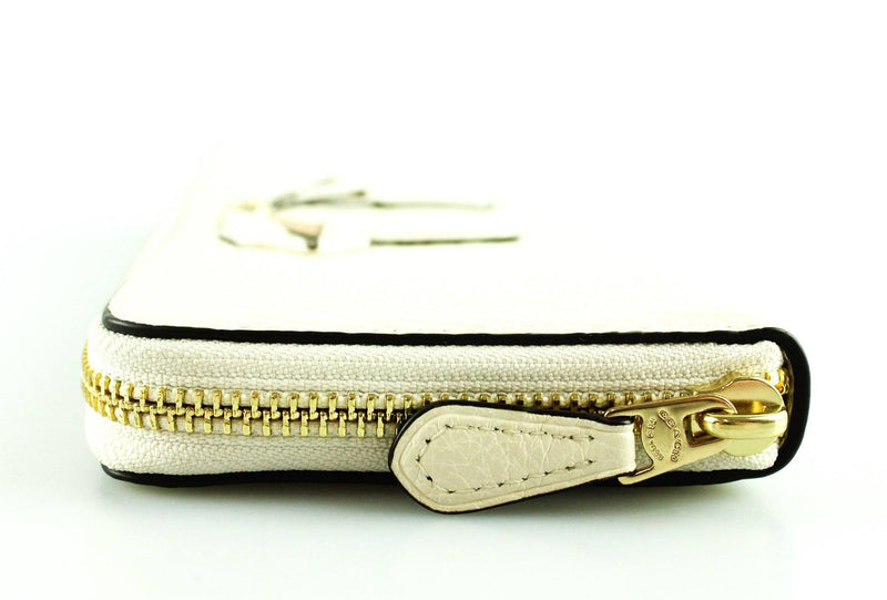 Coach Cream Leather Bow Long Zip Wallet