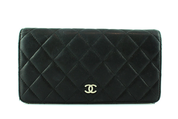 60982adc7244a7 Chanel Black Quilted Lambskin Bi Fold Wallet – Designer Exchange Ltd