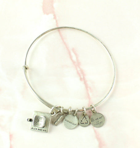 Alex And Ani Silver Graduation Charm Bracelet