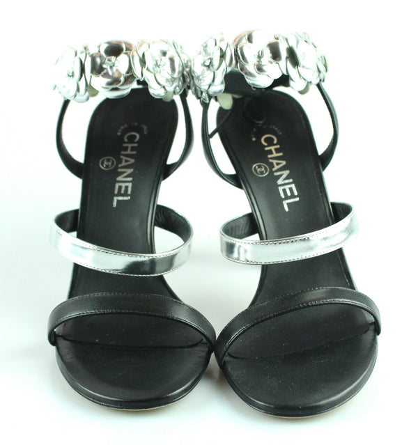 Chanel Camelia Strappy Sandal EUR 39.5 UK 6.5