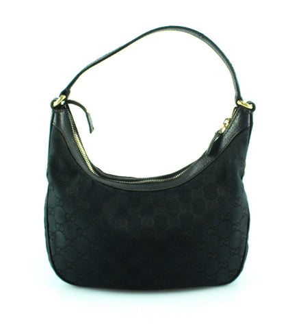 Gucci Small GG Black Canvas/Leather Mini Shoulder Hobo