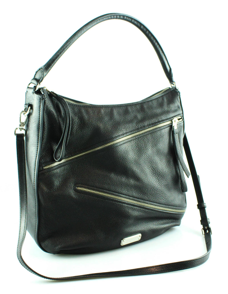 Marc Jacobs Black Leather Serpentine Zipped Hobo
