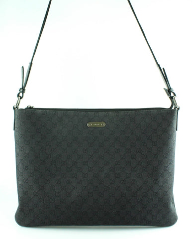 6d86dd44f6e Gucci Mens Grey Black GG Large Folio Messenger